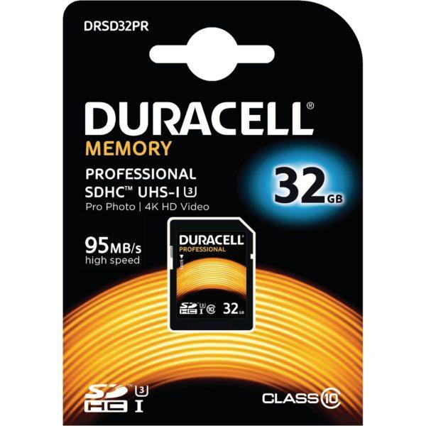 32GB SDHC Class 10 UHS-3 Memory Card