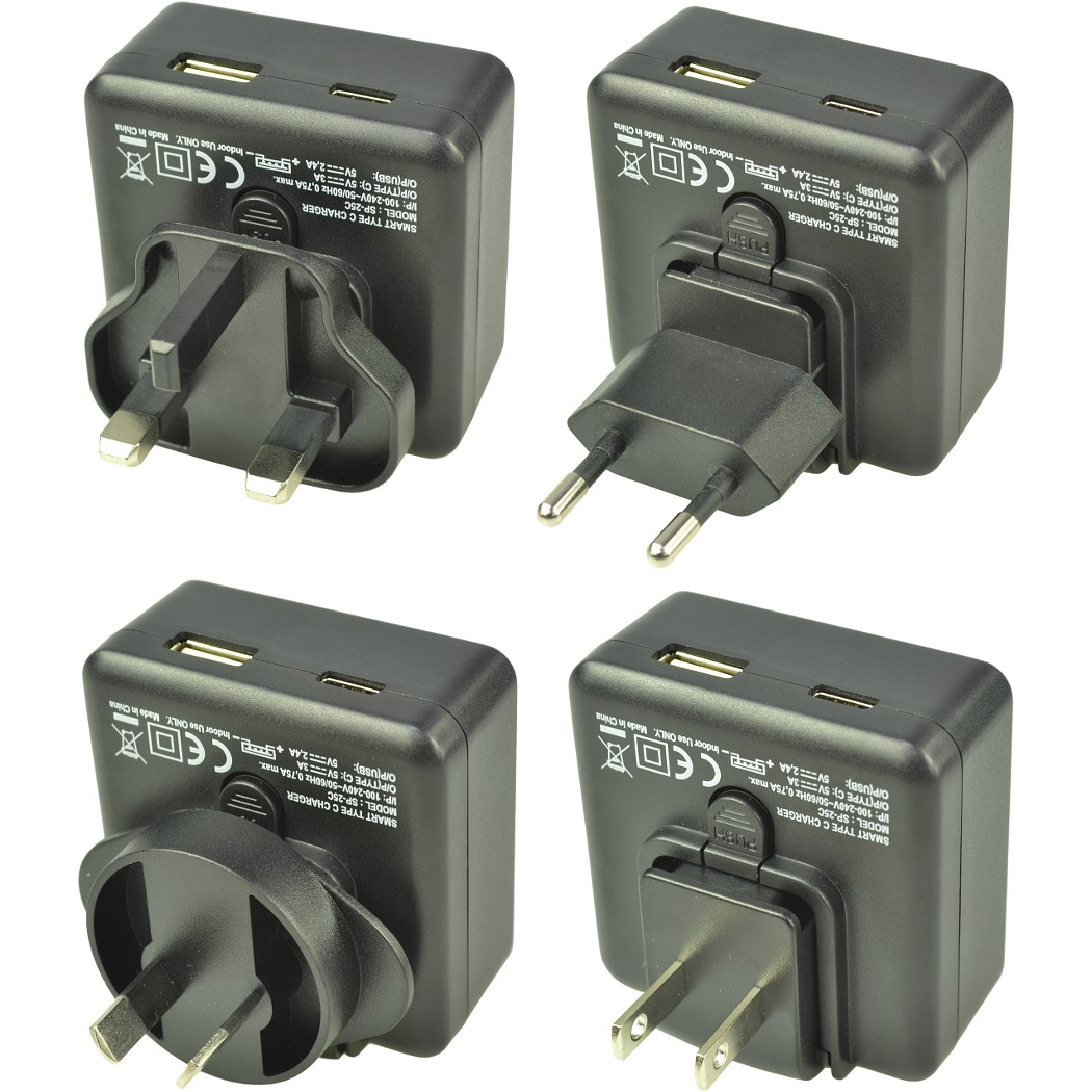 3A Type-C & 2.4A USB Travel charger
