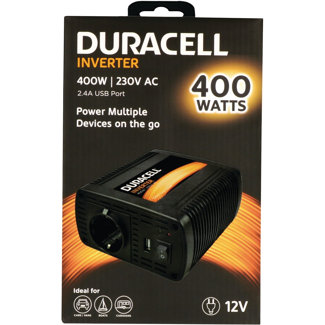 400W Power Inverter with Dual AC & USB